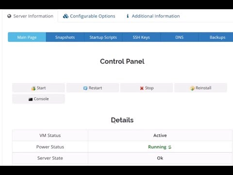 Akses VPS via Control Panel