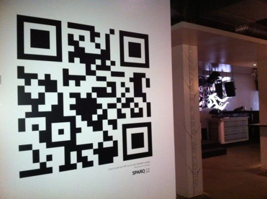 QR code on the wall