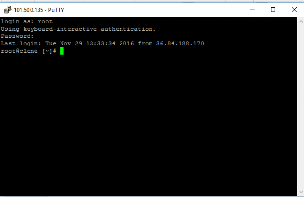 VPS Remote VPS via PuTTY