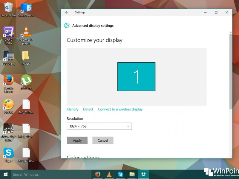 Klik Kanan (Pada OS Windows 10)