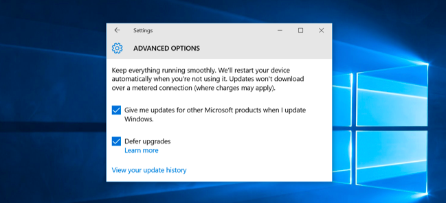 Defer Upgrade Windows 10